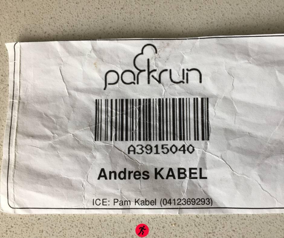 My Parkrun barcode