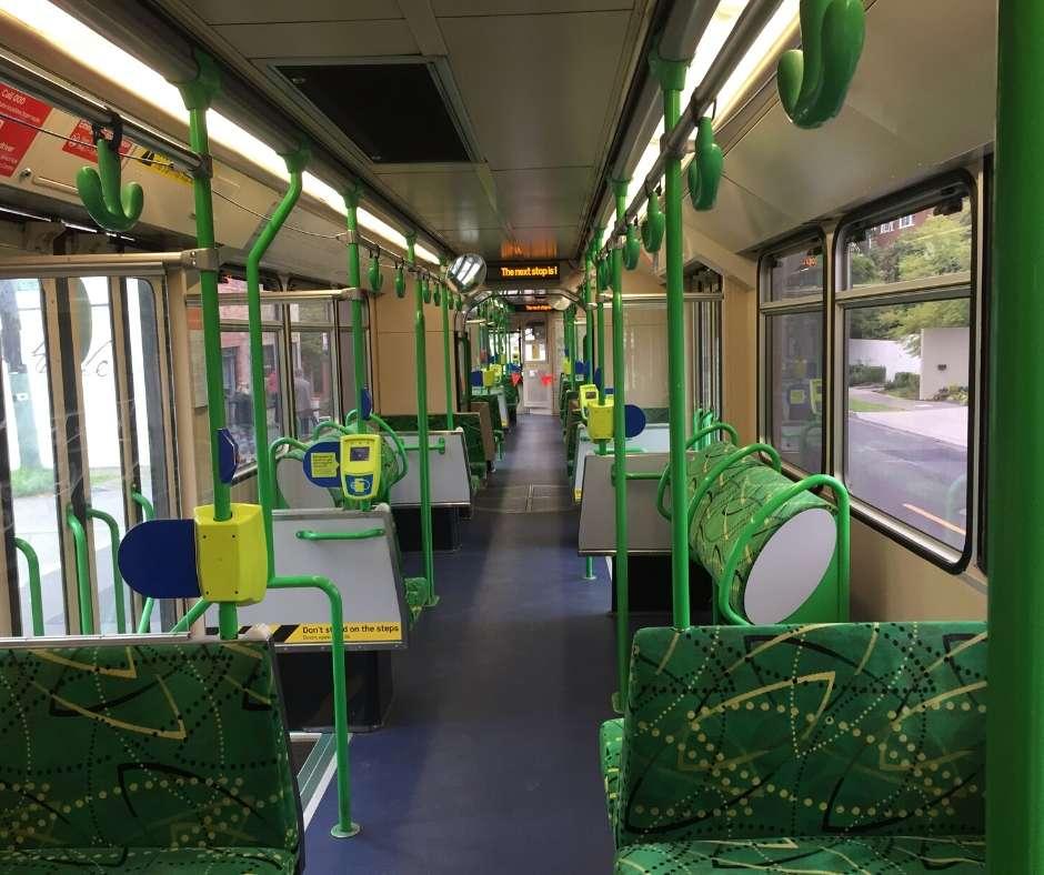 Near-empty tram